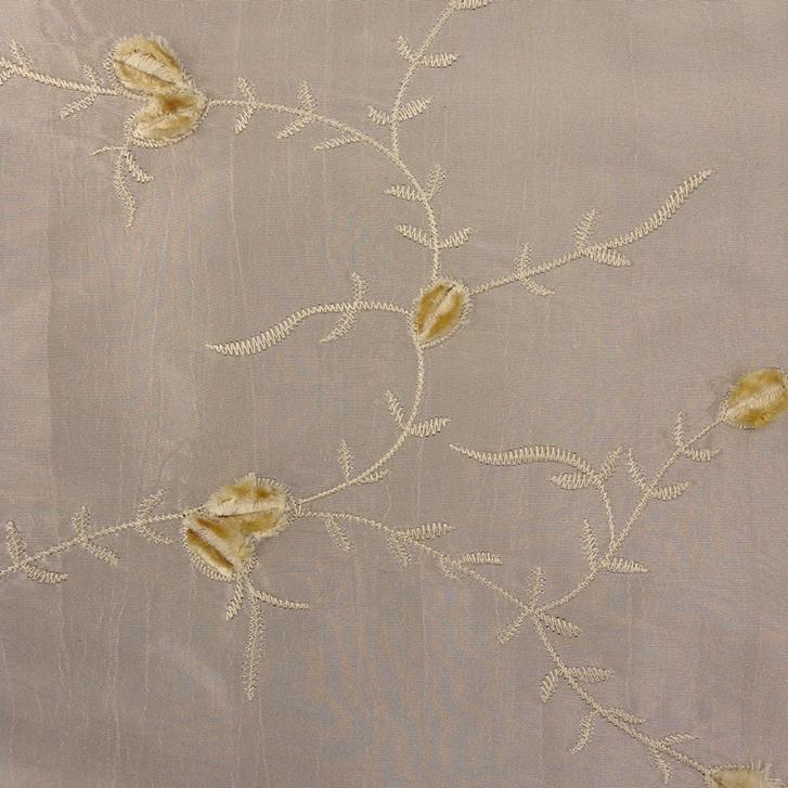 Cream Embroidery - Taffeta
